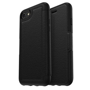 A sophisticated lightweight black genuine leather case, the OtterBox genuine leather wallet cover offers perfect protection for your iPhone 7 / 8, as well as featuring slots for your cards, cash and documents.
