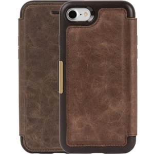 OtterBox Strada iPhone SE 2020 Leather Folio Case - Espresso Brown