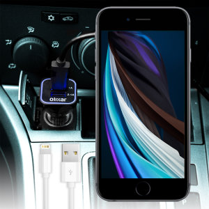 Keep your Apple iPhone SE 2020 fully charged on the road with this high power dual USB 3.1A Car Charger with an included high quality 1m Lightning cable
