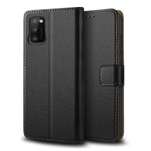 All the benefits of a wallet case but far more streamlined. The Olixar Genuine Leather case in black is the perfect partner for the Samsung Galaxy A41 owner on the move. What's more, this case transforms into a handy stand to view media.