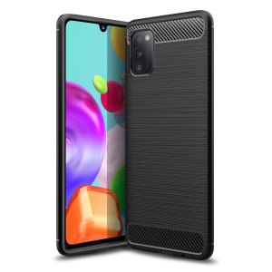 Olixar Carbon Fibre case is a perfect choice for those who need both the looks and protection! A flexible TPU material is paired with an eye-catching carbon print to make sure your Samsung Galaxy A41 is well-protected and looks good in any setting.