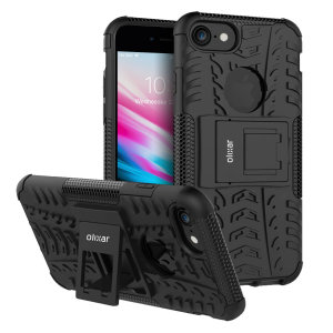 Protect your Apple iPhone 8 from bumps and scrapes with this black ArmourDillo case. Comprised of an inner TPU case and an outer impact-resistant exoskeleton, the Armourdillo not only offers sturdy and robust protection, but also a sleek modern styling.