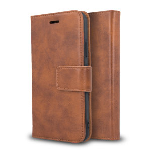 All the benefits of a wallet case but far more streamlined. The Olixar Genuine Leather case in brown is the perfect partner for the iPhone SE 2020 owner on the move. What's more, this case transforms into a handy stand to view media.