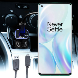 Keep your OnePlus 8 fully charged on the road with this compatible Olixar high power dual USB 3.1A Car Charger with an included high quality  1m USB to USB-C charging cable.