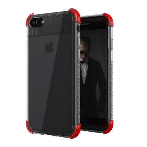 Ghostek Covert 2 iPhone 7 / 8 Tough Case - Clear / Red