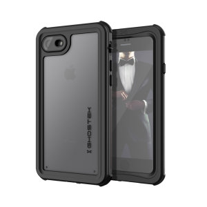 Shield your Apple iPhone SE 2020 on both land & at sea with the extremely tough, yet incredibly stylish Nautical 2 Waterproof case from Ghostek in Black with red trim. Protecting your Apple iPhone SE 2020 from depths of up to 1 meter for up to 30 minutes
