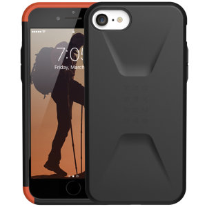 The UAG Civilian Case in Black for the iPhone 7 / 8 features a classic tough-looking, composite design with a soft impact-absorbing core & hard exterior that provides superb protection in all situations. Compatible with Apple pay & wireless charging.