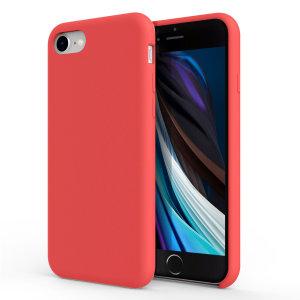 Olixar Soft Silicone iPhone 8 Case - Red