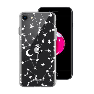 LoveCases iPhone 7 / 8  Gel Case - White Stars And Moons