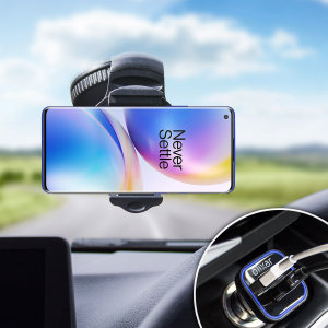Essential items you need for your smartphone during a car journey all within the Olixar DriveTime In-Car Pack. Featuring a robust one-handed phone car mount and car charger with an additional USB port for your OnePlus 8 Pro.