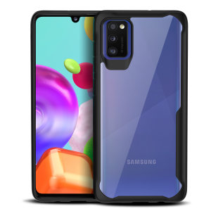 Perfect for Samsung Galaxy A41 owners looking to provide exquisite protection that won't compromise Samsung's sleek design, the NovaShield from Olixar combines the perfect level of protection in a sleek black and clear bumper package.
