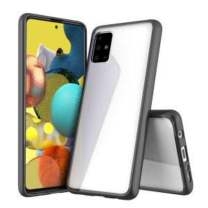 Custom moulded for the Samsung Galaxy A51 5G. This  black Olixar ExoShield tough case provides a slim fitting stylish design and reinforced corner shock protection against damage, keeping your device looking great at all times.
