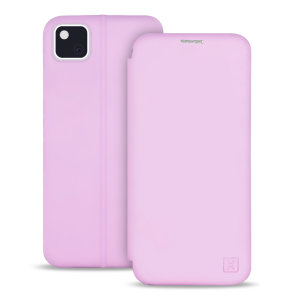 Custom moulded for the Google Pixel 4a, this pastel pink soft silicone flip case from Olixar provides excellent protection against damage as well as a slimline fit. Additionally, this case transforms into a stand to view media and includes a card slot