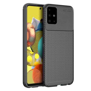 Olixar Carbon Fibre Samsung Galaxy A51 5G Case - Black