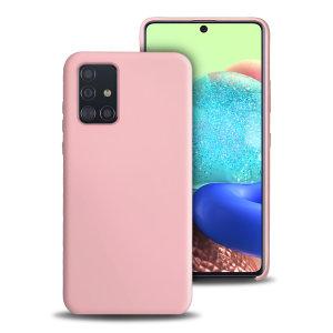 Olixar Soft Silicone Samsung Galaxy A71 5G Case - Pastel Pink