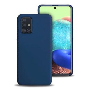 Olixar Soft Silicone Samsung Galaxy A71 5G Case - Midnight Blue