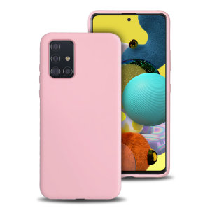 Custom moulded for the Samsung Galaxy A51 5G, this pastel pink soft silicone case from Olixar provides excellent protection against damage as well as a slimline fit for added convenience.