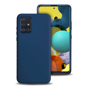 Olixar Soft Silicone Samsung Galaxy A51 5G Case - Midnight Blue