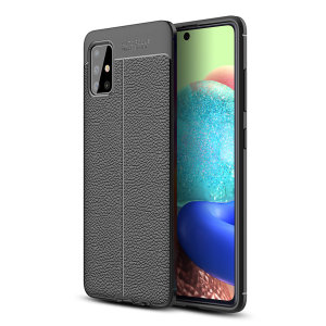 Olixar Attache Samsung Galaxy A71 5G Leather-Style Case - Black