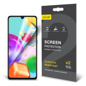 Olixar Samsung Galaxy A41 Film Screen Protector 2-in-1 Pack