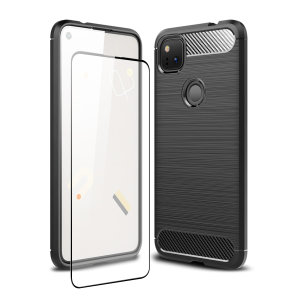 Flexible rugged casing with a premium matte finish non-slip carbon fibre and brushed metal design, the Olixar Sentinel case in black keeps your Google Pixel 4a protected from 360 degrees with the added bonus of a tempered glass screen protector.