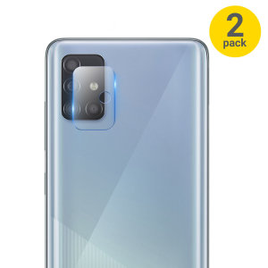 This 2 pack of ultra-thin tempered glass rear camera protectors for the Samsung Galaxy A71 5G from Olixar offers toughness and superb clarity for your photography all in one package.