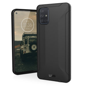 Urban Armour Gear for the Samsung Galaxy A71 features a protective TPU case in black with a UAG logo insert for an amazing design. This sophisticated case is lightweight and adds virtually no excess bulk making it perfect for everyday use.