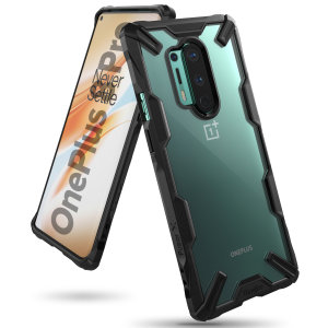 Keep your OnePlus 8 Pro protected from bumps and drops with the Rearth Ringke Fusion X tough case in black. Featuring a 2-part, Polycarbonate design, this case lives up to military drop test standards so you can rest assured that your device is safe