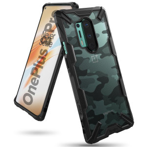 Keep your OnePlus 8 Pro protected from bumps and drops with the Rearth Ringke Fusion X Design tough case in Camo Black. Featuring a 2-part, Polycarbonate design, this case lives up to military drop-test standards whilst being incredibly stylish.