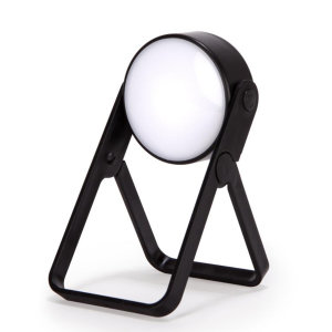 The Kikkerland Spot Light is the perfect home accessory to brighten up your table for any activity. With a 360° rotating LED Light and a foldable kickstand this spotlight is practical and compact.