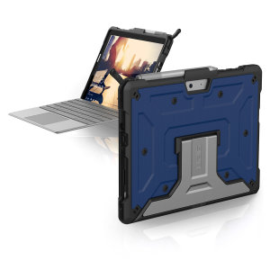 The UAG Metropolis series Rugged Folio Case in cobalt keeps your Microsoft Surface Go 2protected with a lightweight, but highly protective honeycomb composite interior, with a tougher outer case, ensuring the perfect combination of style and security.