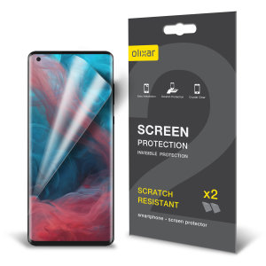 Keep your Motorola Edge Plus screen in pristine condition with this Olixar scratch-resistant screen protector 2-in-1 pack.