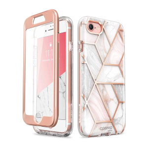 i-Blason Cosmo iPhone 7 / 8 Slim Case & Screen Protector - Marble