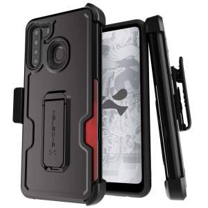 The Samsung Galaxy A21 Iron Armor 3 case in Black from Ghostek provides your Samsung Galaxy A21 with fantastic all-around protection. Includes a card slot for added convenience.