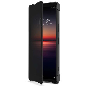 This official Style Cover View in Black from Sony houses your Xperia 1 II, providing protection and full functionality through the see-through touchscreen font cover, allowing you to view and action incoming messages and calls.