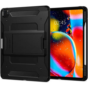 The Spigen Tough Armor in Black is the new leader in lightweight protective cases. The new Air Cushion Technology corners reduce the thickness of the case while providing optimal protection for your iPad Pro 12.9 2018 & 2020 edition.