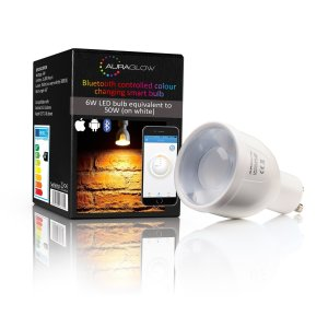 This Auraglow LED Colour Changing Smart Bulb emits a powerful 6W LED light that is equivalent to 50W on white. They can be synce and controlled by the Auraglow app allowing you to create the perfect setting for your event.