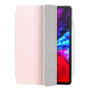 "The Simplism Case from Baseus combines latest technology with simple design to provide first hand protection & adds convenience to your iPad Pro 12.9"" 2020. Completely Frameless this case uses magnets for its structure to create a slim & effective case."