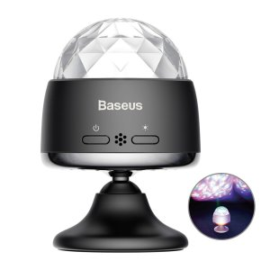 Tired of bored and dull surroundings? The Crystal LED Ball from Baseus adds life to your room. With smart sound recognition & bright LED lights being shone through a crystal design it lights up your surrounding within an instance creating the perfect mood