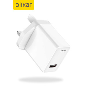Olixar High Power Universal USB UK Mains Charger - White