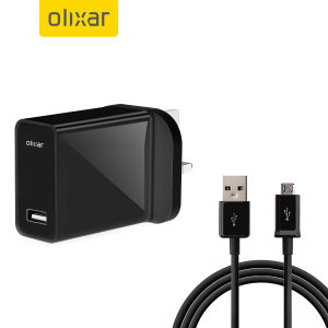 Charge your Micro-USB device quickly & conveniently with this High Power UK mains adapter in black. With a power output of 2.4 Amp it fast charges your smartphone devices. This also includes a 1m Micro-USB cable suitable for all Micro-USB devices.