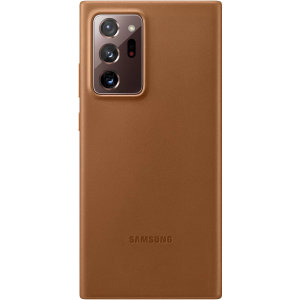 This Official Samsung Leather Cover in Brown is the perfect way to keep your Samsung Galaxy Note 20 Ultra smartphone protected in style, made out of genuine leather. Compatible with 4G and 5G variants.
