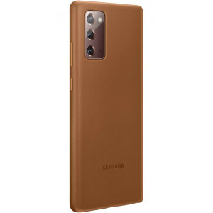 This Official Samsung Leather Wallet Cover in Brown is the perfect way to keep your Galaxy Note 20 smartphone protected whilst keeping a stylish and sophisticated look. This leather case protects against scratches and bumps while being lightweight.