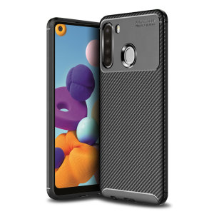 Olixar Carbon Fibre Samsung Galaxy A21 Case - Black