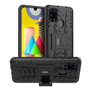 Protect your Samsung M31 from bumps and scrapes with this black ArmourDillo case. Comprised of an inner TPU case and an outer impact-resistant exoskeleton, the Armourdillo not only offers sturdy and robust protection, but also a sleek modern styling.