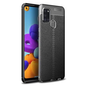 Olixar Attache Samsung Galaxy A21s Leather-Style Protective Case Black