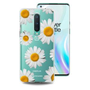Take your OnePlus 8 to the next level with this daisy print phone case in white from LoveCases. Cute but protective, the ultra-thin case provides slim fitting and durable protection against life's little accidents.
