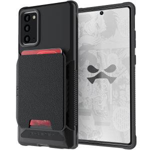 The Exec 4 premium wallet case in Black provides your Samsung Galaxy Note 20 with fantastic protection. Also featuring storage slots for your credit cards, ID and cash.