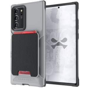 The Exec 4 premium wallet case in Grey provides your Samsung Galaxy Note 20 Ultra with fantastic protection. Also featuring storage slots for your credit cards, ID and cash. Compatible with 4G and 5G variants.