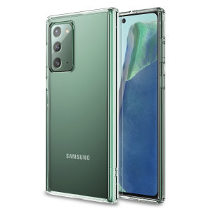Custom moulded for the Samsung Galaxy Note 20. This clear Olixar ExoShield tough case provides a slim fitting stylish design and reinforced corner shock protection against damage, keeping your device looking great at all times.
